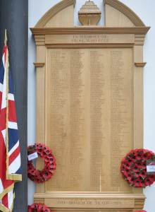 A memorial to Board of Trade staff located at the Department for Business, Energy & Industrial Strategy