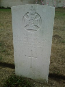 Birchall's grave at Etaples Military Cemetery