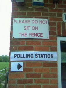It's not long till polling day, so the regulated period has begun